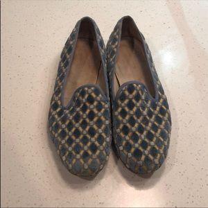 Stubbs & Wooten Blue Velvet Loafers